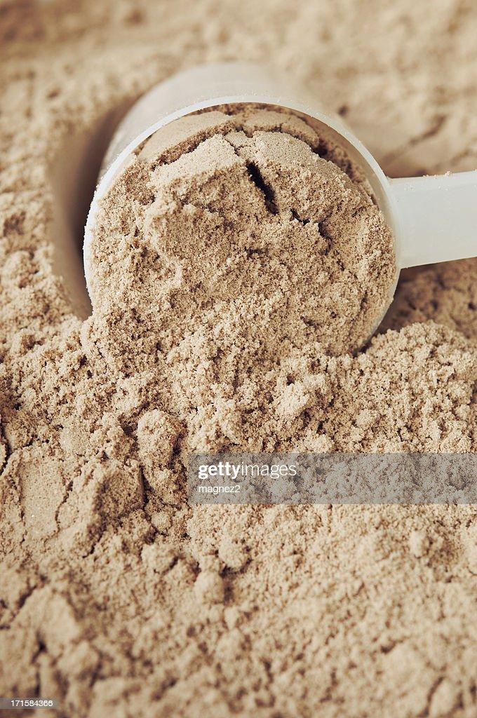 Chocolate Protein Powder : Stock Photo