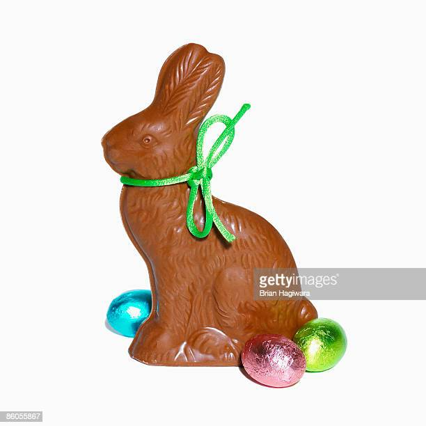 chocolate rabbit - easter candy stock pictures, royalty-free photos & images