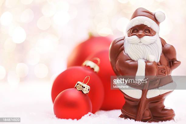Chocolate Santa y rojo baubles