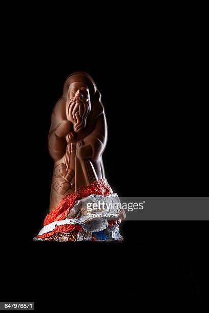 Chocolate Santa Claus unwrapped
