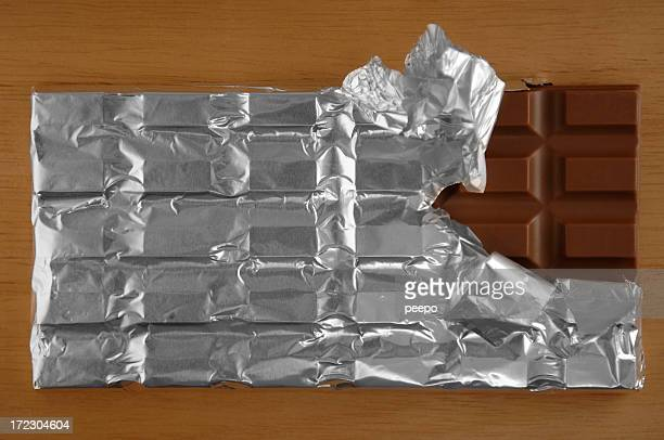 chocolate series - candy wrapper stock photos and pictures