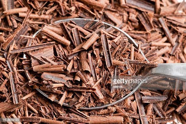 Chocolate Shavings in Spoon