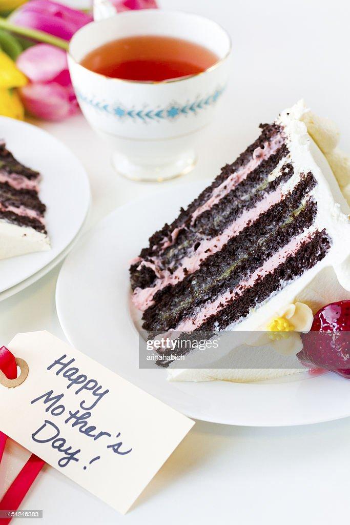 Chocolate Strawberry Lemon Torte : Stock Photo