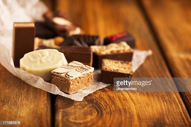 Schokolade und Süßigkeiten
