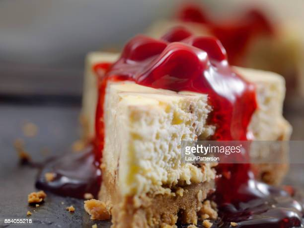 Chocolate Swirl Cheesecake with Cherry Topping