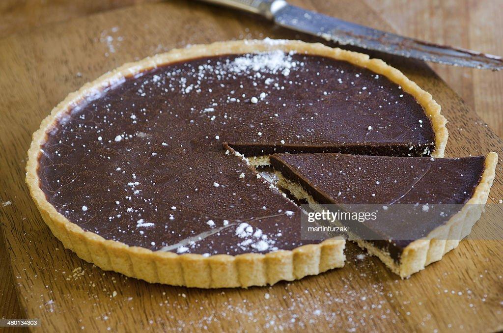 Chocolate tart : Stock Photo