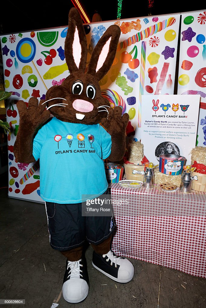 Chocolate the Bunny mascot attends the Dylan's Candy BarN launch event at Dylan's Candy Bar on December 8, 2015 in Los Angeles, California.