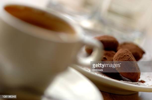 Chocolate Truffles and Coffee Cup