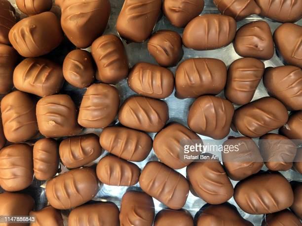 chocolate truffles selection - rafael ben ari stock-fotos und bilder