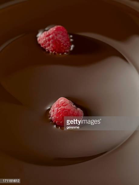 chocolate with raspberry