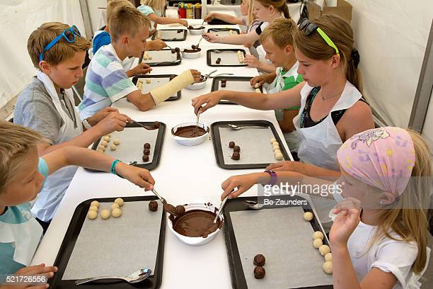 Chocolate workshop for children at Gladmat (the Happy Food Festival) in Stavanger, Norway
