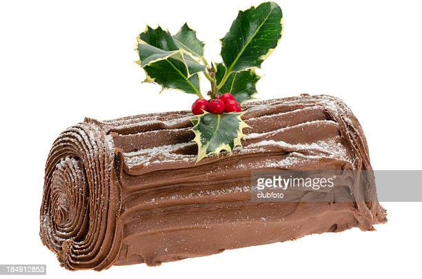 Chocolate tronco navideño