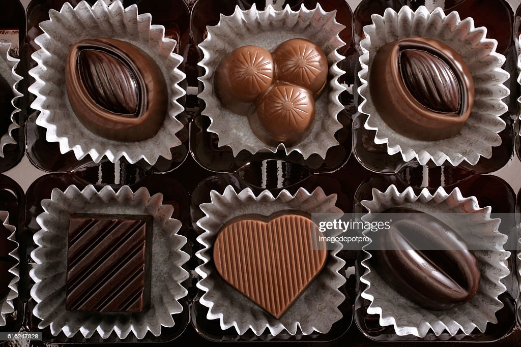 chocolates in box : Stock Photo