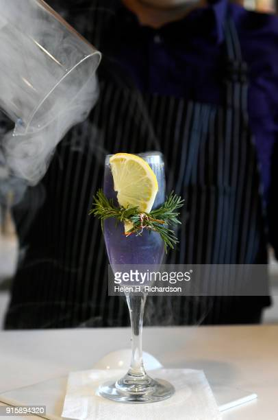 Chocolatier Phil Simonson creates a unique drink called Love Potion at Chocolate Lab on February 7 2018 in Denver Colorado The drink is made with...
