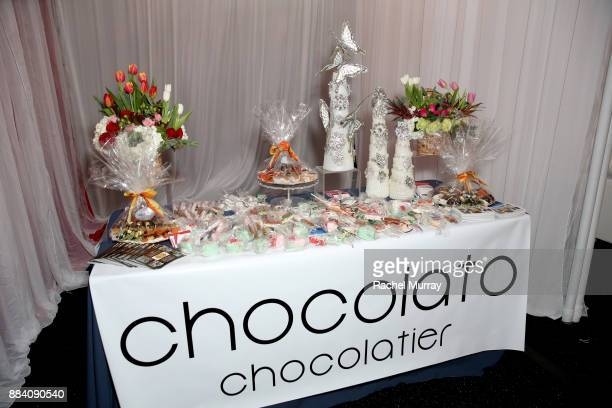 Chocolato Chocolatier on display at the 1027 KIIS FM Artist Gift Lounge at 1027 KIIS FM's Jingle Ball 2017 presented by Capital One at The Forum on...