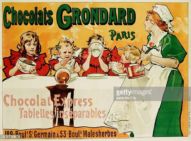 Chocolats Grondard Chocolate Advertisement Poster