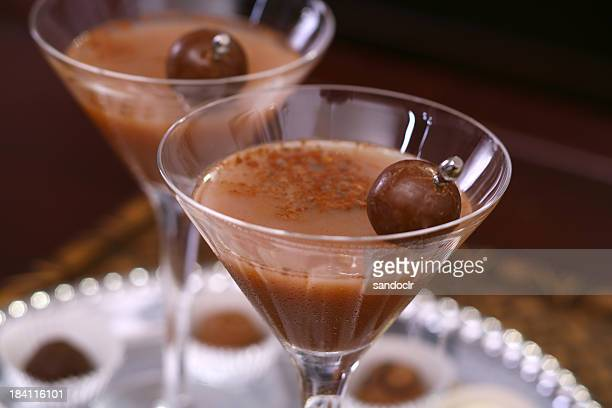 chocotini - liqueur stock pictures, royalty-free photos & images