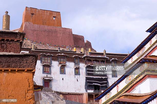 pelkor chode monastery in gyantse tibet. - chode images stock photos and pictures