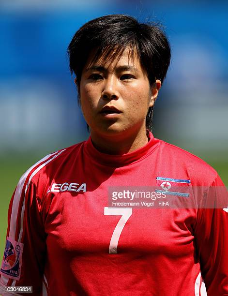 Choe Un Ju of North Korea poses during the FIFA U20 Women's World Cup Group B match between North Korea and Sweden at the FIFA U20 Women's World Cup...