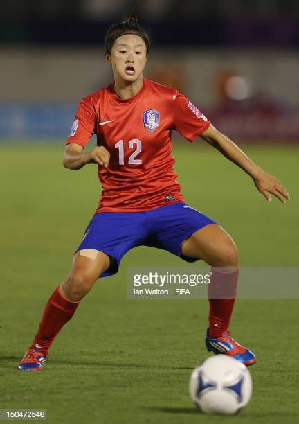 Choe Yuri of Korean Republic in action during the FIFA U-20 Women's World Cup Japan 2012, Group B match between Nigeria v Korean Republic at Komaba...