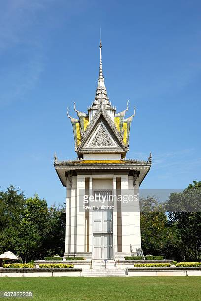 choeung ek killing fields, cambodia - killing fields stock pictures, royalty-free photos & images
