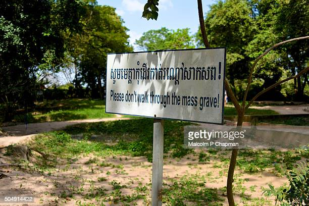 choeung ek, killing fields, phnom penh, cambodia - khmer rouge stock photos and pictures