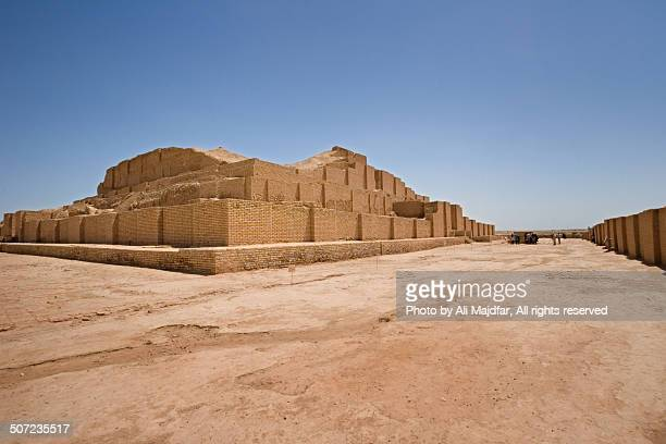 chogha zanbil temple - mesopotamian stock photos and pictures