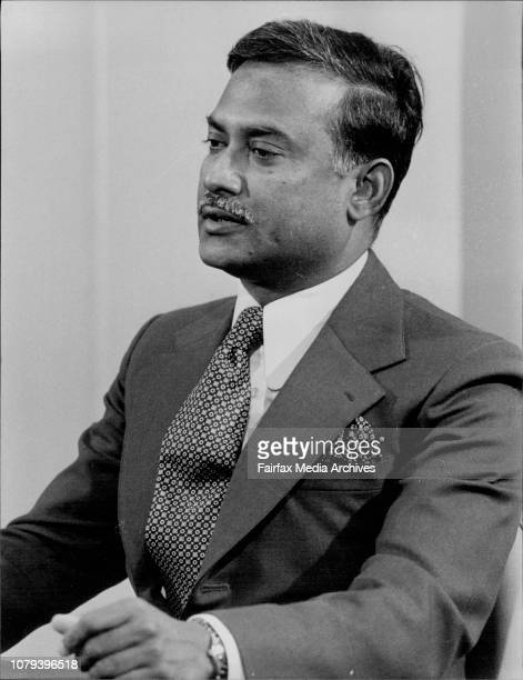 Chogrm at the Hilton HotelThe President of Bangladesh Major General Ziaur Rahman during a press conference today February 17 1978