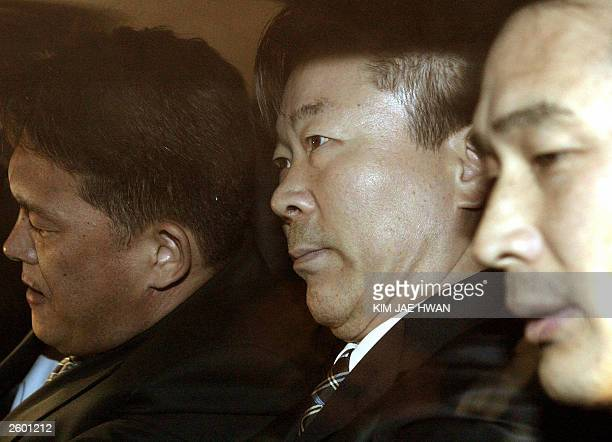 Choi DoSul former top advisor to South Korean President Roh MooHyun is taken to the prosecutor's office to answer questions concerning allegations of...