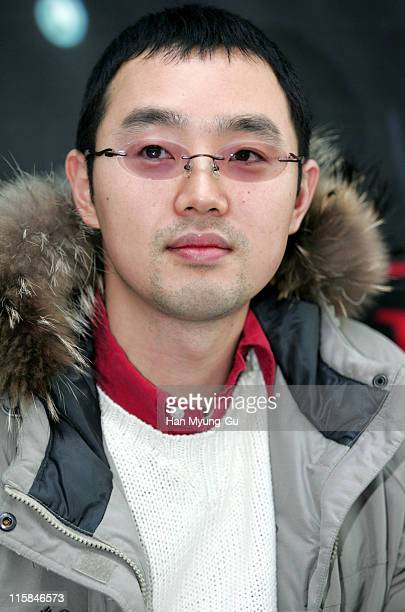 "Choi Equan, director during ""Whispers"" Paju City Press Conference at Art Service A Studio In Paju in Paju City, Gyeonggi Province."