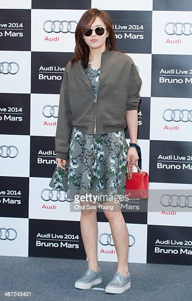 Choi GangHee attends the Audi Live 2014 'Bruno Mars concert' at Olympic Park on April 8 2014 in Seoul South Korea