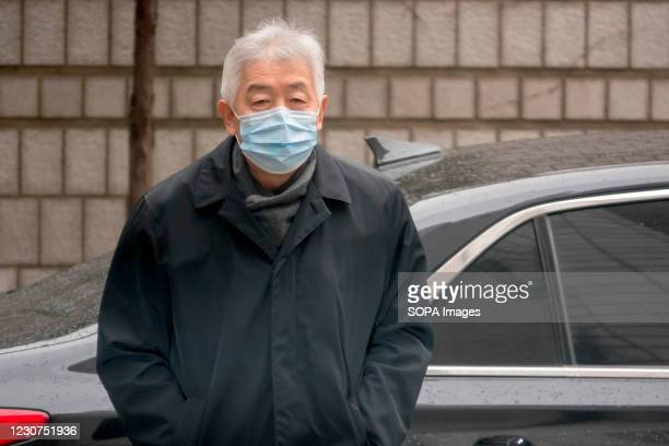 Choi Gee-Sung, former head of Samsung Group's now-disbanded control tower Future Strategy Office, arrives at the Seoul High Court to attend a retrial...