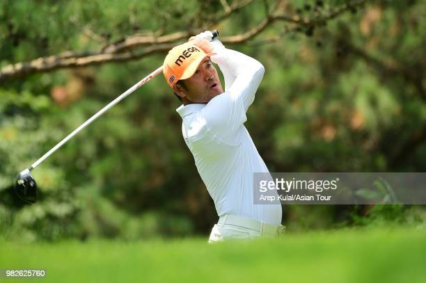 Choi Hosung of South Korea pictured during the final round of the Kolon Korea Open Golf Championship at Woo Jeong Hills Country Club on June 24 2018...