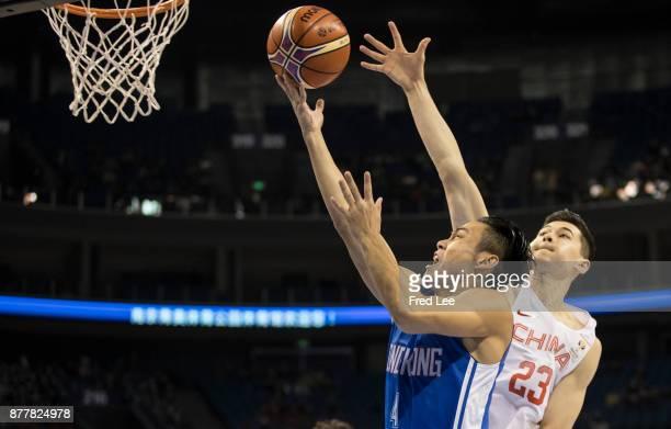 Choi Kwan Tsai of Hong kong in action during the FIBA Basketball World Cup 2019 Qualifiers between China and Hong Kong at Youth Olympic Sports Centre...