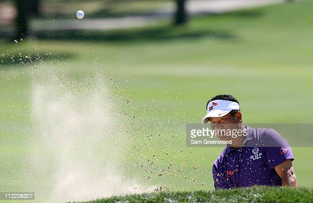 J Choi of Korea plays a shot during the first round of the Transitions Championship at Innisbrook Resort and Golf Club on March 17 2011 in Palm...