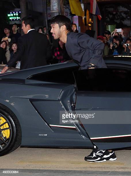 Choi Siwon attends the EXR flagship store opening event at Sinsadong on October 12 2015 in Seoul South Korea