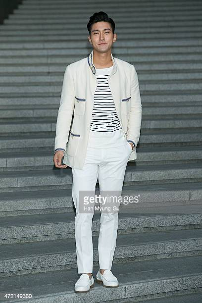 Choi SiWon of South Korean boy band Super Junior attends the Chanel 2015/16 Cruise Collection show on May 4 2015 in Seoul South Korea