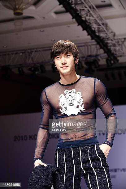 Choi Siwon of Super Junior attends the Andre Kim fashion show at Kintex on March 3 2010 in Goyang South Korea