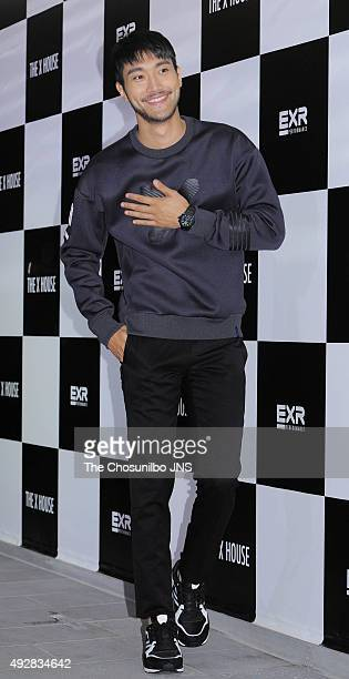 Choi Siwon of Super Junior attends the EXR flagship store opening event at Sinsadong on October 12 2015 in Seoul South Korea