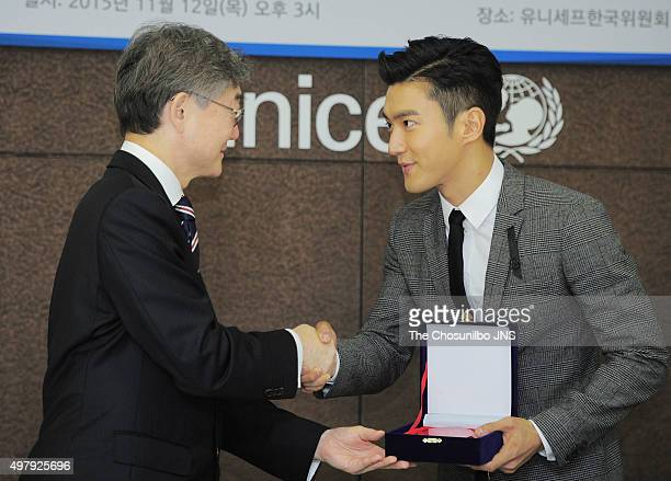 Members of super junior stock photos and pictures getty images choi siwon of super junior is nominated as special unicef korean committee representitive at unicef on m4hsunfo