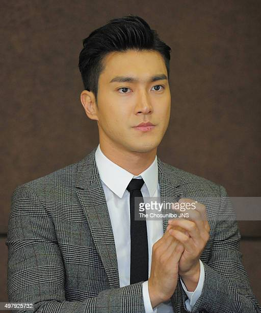 Choi Siwon of Super Junior is nominated as Special UNICEF Korean Committee representitive at UNICEF on November 12 2015 in Seoul South Korea