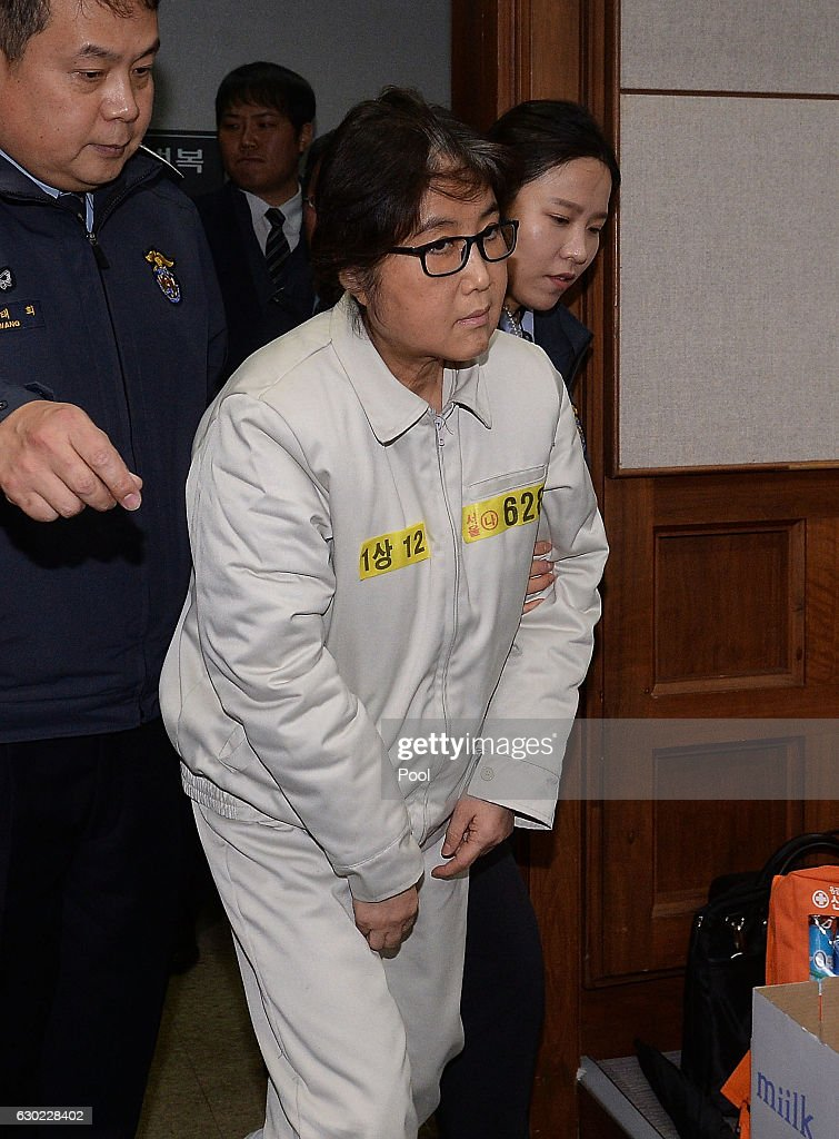 Choi Soon-sil Appears At First Court Hearing