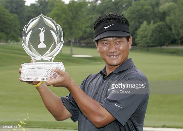 KJ Choi wins the Memorial Tournament Presented by Morgan Stanley held at Muirfield Village Golf Club in Dublin Ohio on June 3 2007
