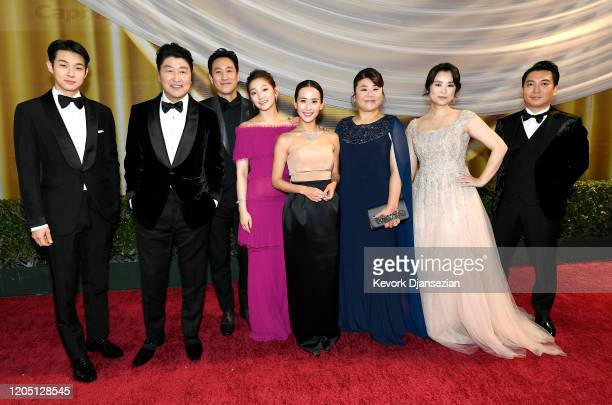 Choi Wooshik KangHo Song Lee Sun Gyun Park Sodam Cho Yeojeong Lee Jeongeun Jang Hyejin and Park Myunghoon attend the 92nd Annual Academy Awards at...