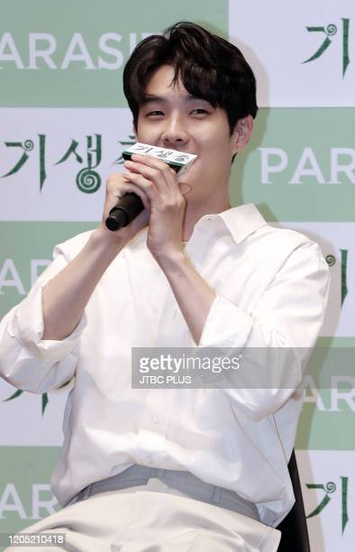Choi WooSik attends premiere of Korean Movie 'Parasite' at Lotte Cinema World Tower on June 23 2019 in Seoul South Korea