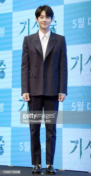 Choi WooSik attends premiere of Korean Movie 'Parasite' at Westin Chosun Hotel on April 22 2019 in Seoul South Korea