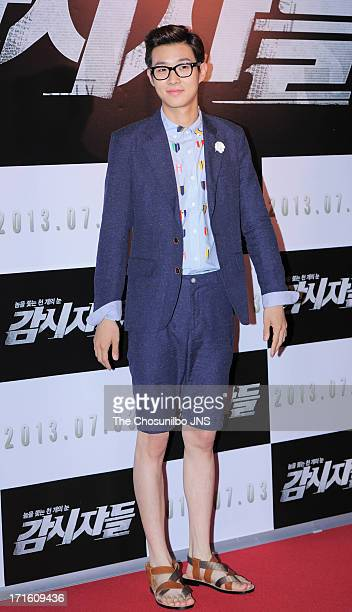 Choi WooSik attends the 'Cold Eyes' Red Carpet VIP Press Screening at COEX Megabox on June 25 2013 in Seoul South Korea