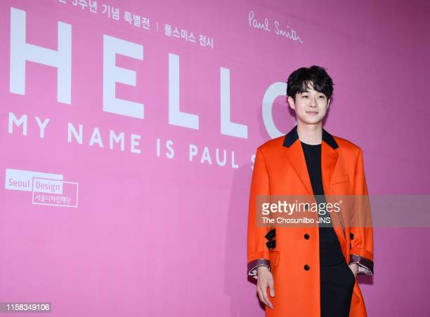 """Choi WooSik attends the Special Exhibition """"Hello My Name Is Paul"""" at DDP on June 05 2019 in Seoul South Korea"""
