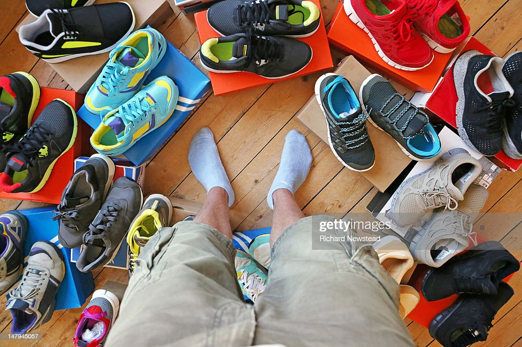 Choice of footwear : Stock Photo