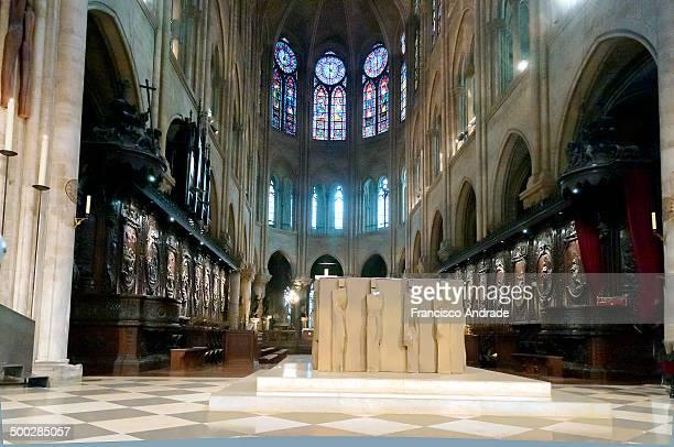 CONTENT] Choir and Altar of the Cathedral Notre Dame Paris France Coro e Altar da Catedral de Notre Dame de Paris